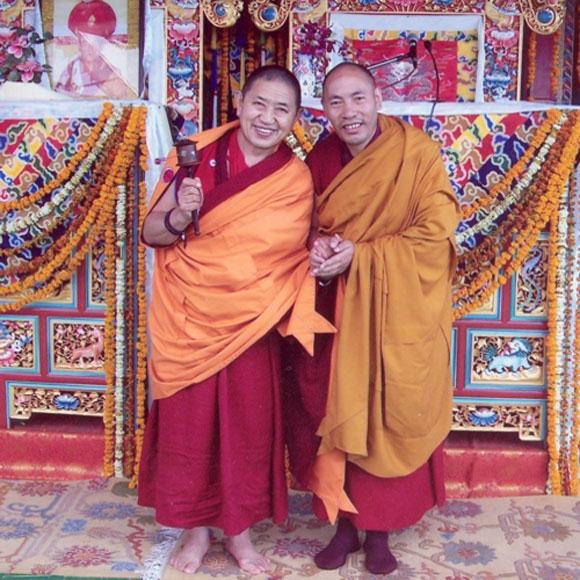 Khenpo Sherab Ozer Rinpoche with H.E. Garchen Rinpoche